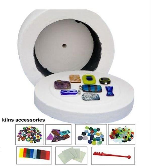 Extra Large Microwave Kiln Kit For Glass Fusing 8pcs Set