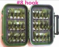 40 Piezas Mixtas de Moscas Secas Pack/set Pluma Anzuelo Mosca Moscas Señuelos Anzuelo de Pesca Moscas --- 5
