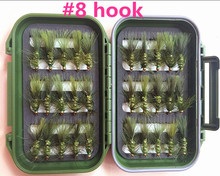 40Pieces Mixed Dry Flies Pack/set Feather Bait Hook Fly Fish Lures Fishing Flies---5