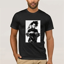 Edward Scissorhands T Shirt Depp Ryder T-Shirt Short-Sleeve Fashion Tee Cute Cotton Male Tshirt