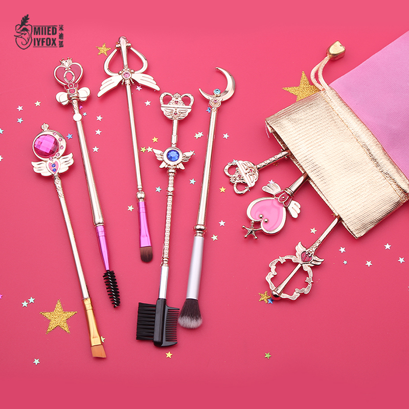 Free shipping 20 style sailor moon/Cardcaptor Sakura Makeup outfit/makeup brush/comb/mirror Woman gift and Exquisite packing cosplay anime cardcaptor sakura card captor sakura cute wings shoulder bag costume