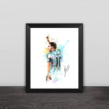 Argentina Captain MESSI Signature Poster King Of Nou Camp Home Decoration Accessory Photo Frame Souvenir Gifts For Soccer Fans(China)