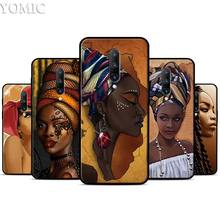Colorful art african girl Printing Silicone Case for Oneplus 7 7Pro 5T 6 6T Black Soft Case for Oneplus 7 7 Pro TPU Phone Cover