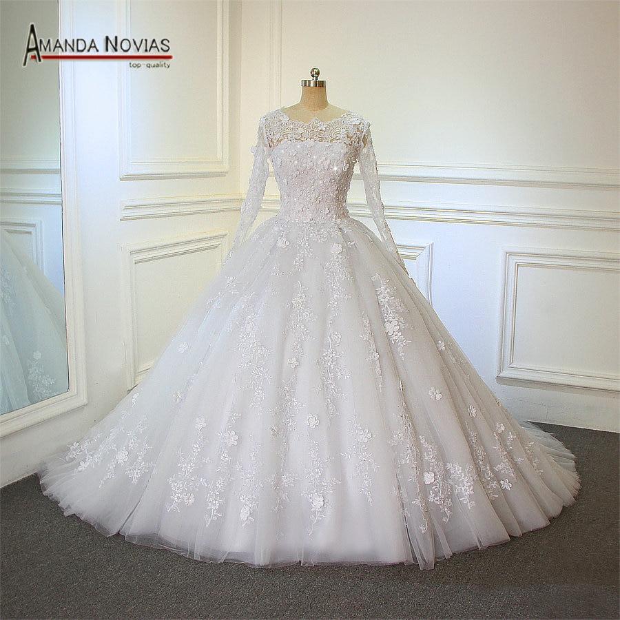 Aliexpress.com : Buy Real Photos Amanda Novias Design Lace