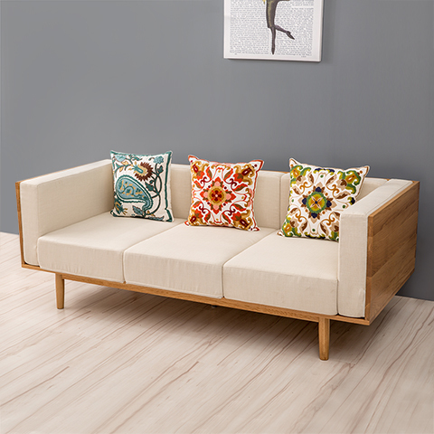 The Size Of Apartment Living Room Furniture Sofa Fabric Modern Minimalist Scandinavian Trio