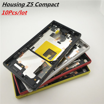 10Pcs/lot For Sony Xperia Z5 Compact Middle Frame Bezel Front Chassis Plate Housing E5803 E5823 For Sony Z5 Compact Middle Frame