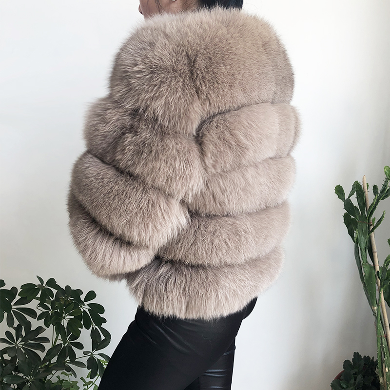 2019 new style real fur coat 100% natural fur jacket female winter warm leather fox fur coat high quality fur vest Free shipping 44