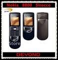 Nokia 8800 Sirocco desbloqueado GSM teléfono móvil ruso y árabe teclado disponibles dropshipping