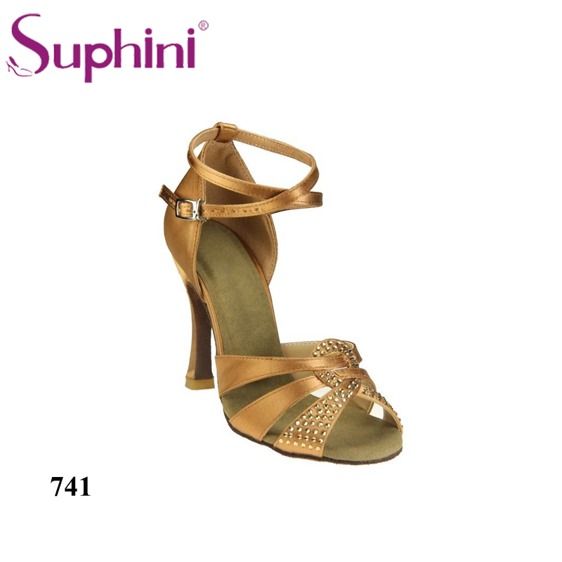 FREE SHIPPING VIP price Suphini Favorites Compare 4 inches High Heel Women Ballroom Salsa Latin Dance Shoes free shipping ankle strap hight heel women s salsa latin ballroom tango dance shoes