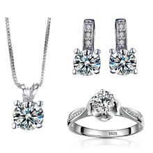African Beads White Gold 585 Plated Bridal Jewelry Sets Wedding For Women Earrings Rings Necklaces Parure Bijoux Femme QT002