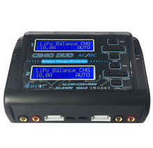 Top Deals HTRC C240 DUO AC 150W DC 240W Dual Channel 10A RC Balance lipo battery Charger