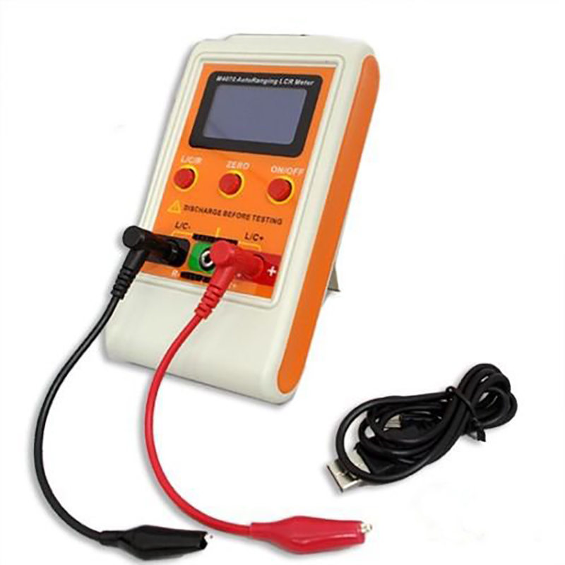 Auto Range Handheld Digital LCR Bridge 100H 100mF 20MR Capacitance Inductance Professional High Precision Rechargeable Meter high precision digital capacitance inductance meter auto ranging component tester 500kh lc rc oscillation inductance multimeter