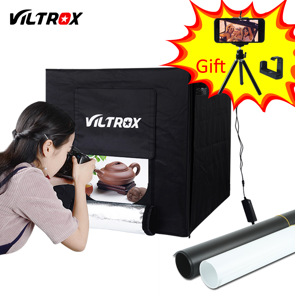 Viltrox 60 60cm LED Photo Studio Softbox Light Tent Soft Box AC Adapter Backgrounds for Phone