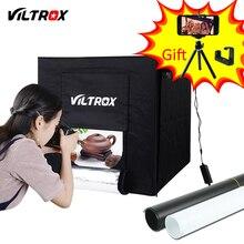 Viltrox 60*60 см LED фотостудия Softbox Свет Палатка Мягкая коробка + адаптер переменного тока + фоны для телефона Камера DSLR Jewelry игрушки, обувь