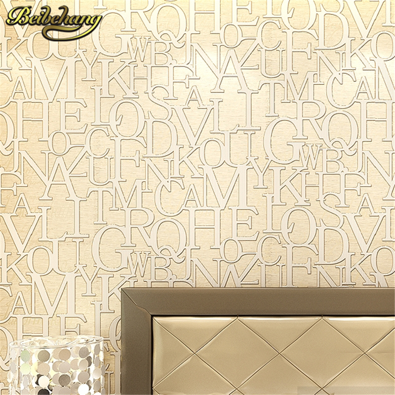 beibehang papel de parede 3d flooring English Letter Stereo Relief wallpaper for walls 3 d wall paper contact-paper living roll  beibehang shells pigeons papel de parede 3d flooring wallpaper for walls 3 d pvc self adhesive wallpaper floor tiles wall paper