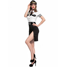Women Pilot Costumes Nightclub Party Office OL Masquerade Cosplay for halloween Party Fancy dress