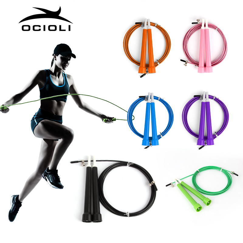 Crossfit Fitnesss Equimpment Steel Wire Skipping Skip Adjustable Jump Rope skipping jump rope