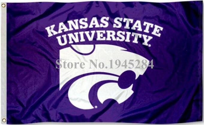 Kansas State University Wildcats Drapeau Bannière 002 Oeillets En Laiton Nouveau 3x5FT 90x150 CM Polyester NCAA 9150, livraison gratuite