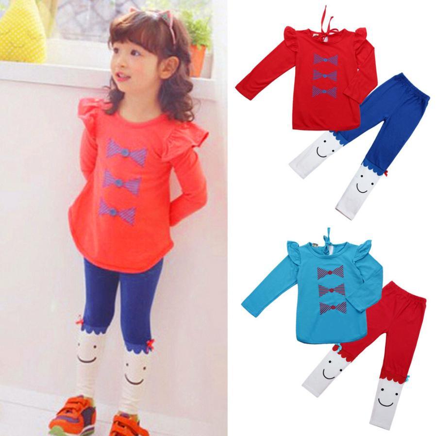 Лето 2017 г. Комплекты модной одежды для маленьких девочек из хлопка для маленьких мальчиков девочки милые дети девушка с длинным рукавом бан...