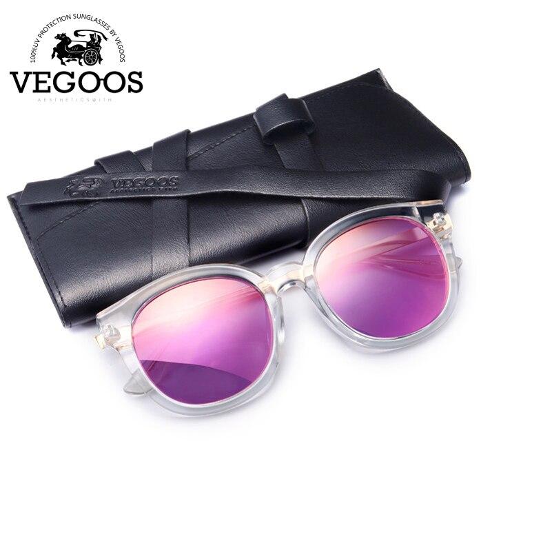 VEGOOS Polarized Women Round Fashion Sunglasses PC Retro Woman Polaroid Driving Sun <font><b>Glasses</b></font> Eyewear New Eyewear Size <font><b>S</b></font> #9068S