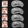 4pcs Eyebrow Template Stencils Brow Grooming Card trimming shaping beauty tool DIY Eyebrows Makeup Women PVC