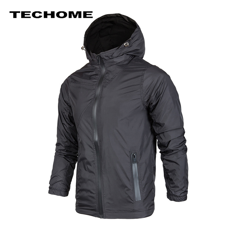 2017 New Fashion Men Jacket Men's Casual Jacket Thin Men Windbreaker Hooded Fashion Zipper Jackets Coat Outwear size 3XL 4XL