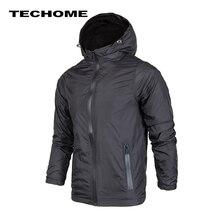 2018 Новая модная мужская куртка мужская повседневная куртка тонкая мужская ветровка с капюшоном модные куртки на молнии пальто Верхняя одежда Размер 3XL 4XL