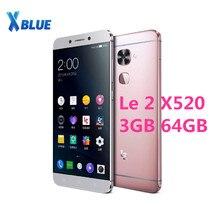 "Letv LeEco Le 2X520 โทรศัพท์มือถือ Snapdragon 652 OCTA Core โทรศัพท์มือถือ 5.5 ""3 GB 64GB 1920X1080 16.0MP + 8.0MP Android ลายนิ้วมือ"
