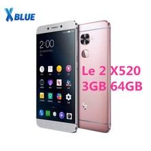 "Letv LeEco Le 2X520 snapdragon do telefonu komórkowego 652 octa core telefon 5.5 ""3 GB 64GB 1920x1080 16.0MP + 8.0MP z systemem Android linii papilarnych"