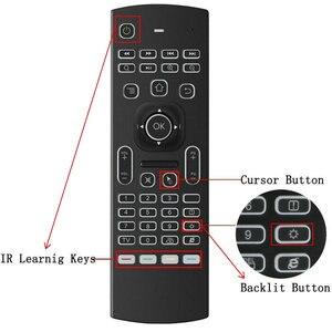 Image 5 - MX3 подсветка Голосовая воздушная мышь мини клавиатура 5 ИК обучение для Shield TV android smart tv box Raspberry pi 3 Пульт дистанционного управления