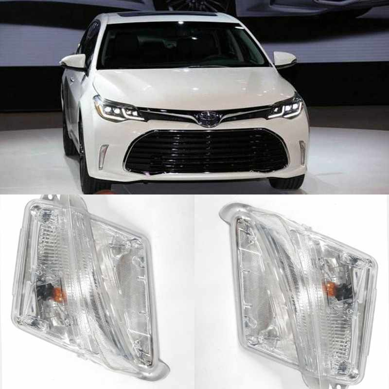JanDeNing For Front TURN SIGNAL FOG LIGHT LAMP  For 2016 2017 2018 Toyota Avalon