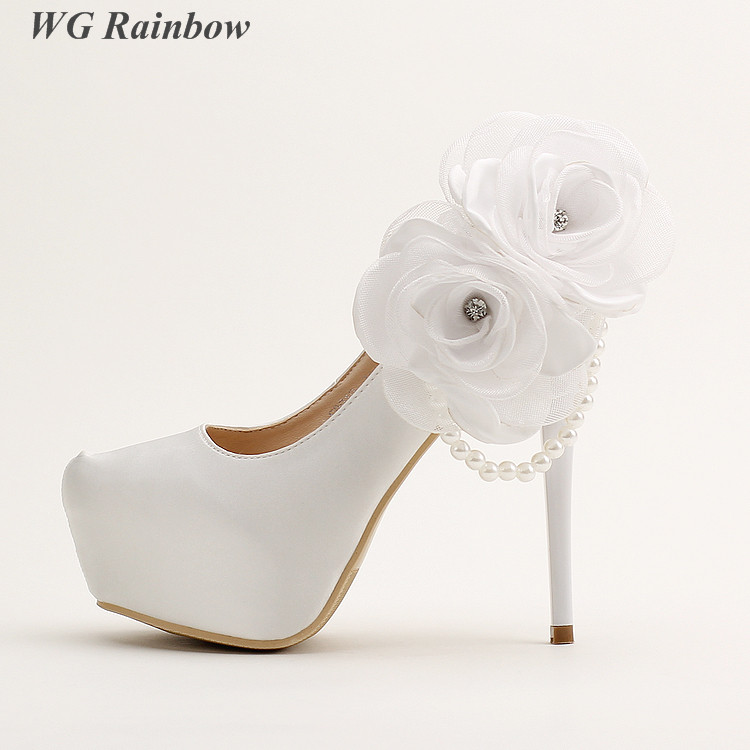 Popular White Silk Wedding Shoes Buy Cheap White Silk Wedding