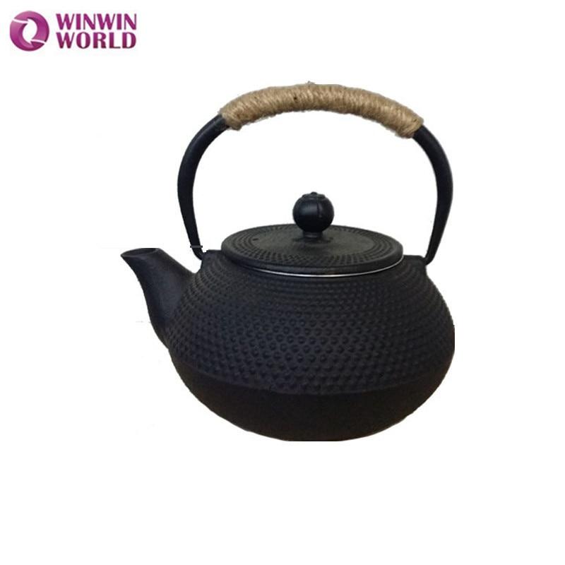 Wholesale Chinese Cast Iron Tea Pot Sets 0.8L Chinese Cast Iron Teapot With Infuser,Fancy Tea Pot WW-MT004