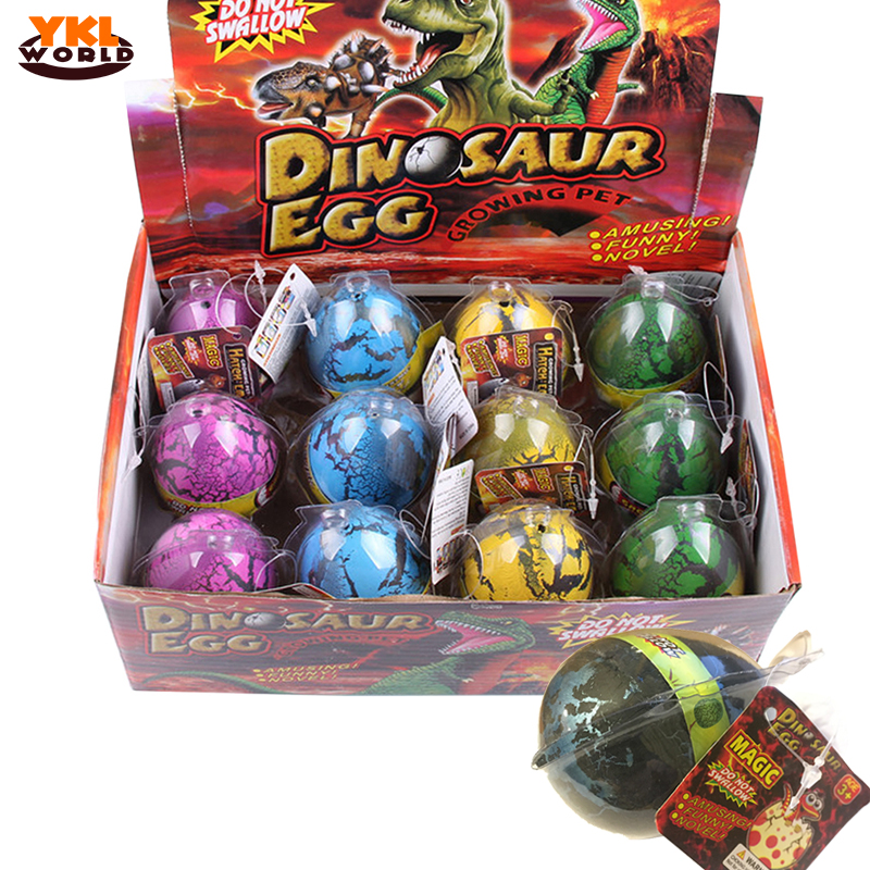 4/12x Water Hatching Dinosaur Egg Large Inflation Water Eggs Crack Growing Dino Toy Educational Science Toys For Children (S5