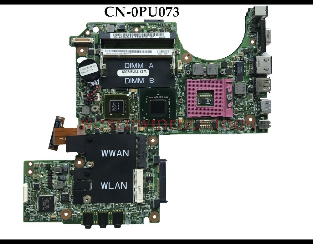 High quality CN-0PU073 FOR Dell XPS M1330 Laptop Motherboard PU073 GM45 PGA478 DDR2 G86-631-A2 Upgrade Version 100% Fully Tested 1pcs lot g86 730 a2 upgraded version integrated chipset 100% new lead free solder ball ensure original not refurbished or teardown