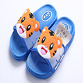 2017 new arrival baby girls boys slippers for children cartoon tiger print rubber pvc spring red blue kids home sandals FC079