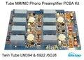 Трубка мм / мс фоно предусилитель PCBA комплект вход этап сдвоенная труба LM394 усилитель 6922 / 6DJ8 аудио HIFI DIY