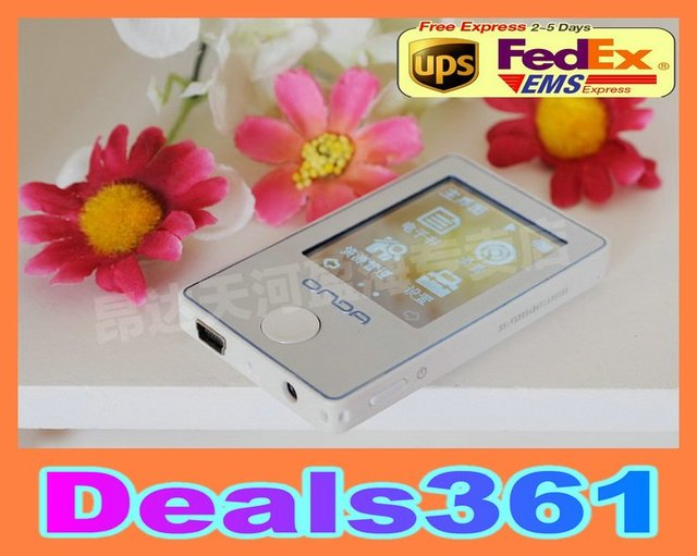 Onda VX320 4G 1.8 inch touch screen MP3 player 8.5mm ultra-thin body, White Free Shipping!