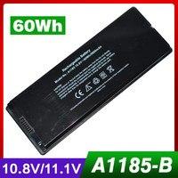 10.8 볼트 60Wh 노트북 배터리 애플 A1185 ASMB016 MA566 MA566FE/MA566G/MA566J/mid-2009, 맥북 5.2 A1181 MA472