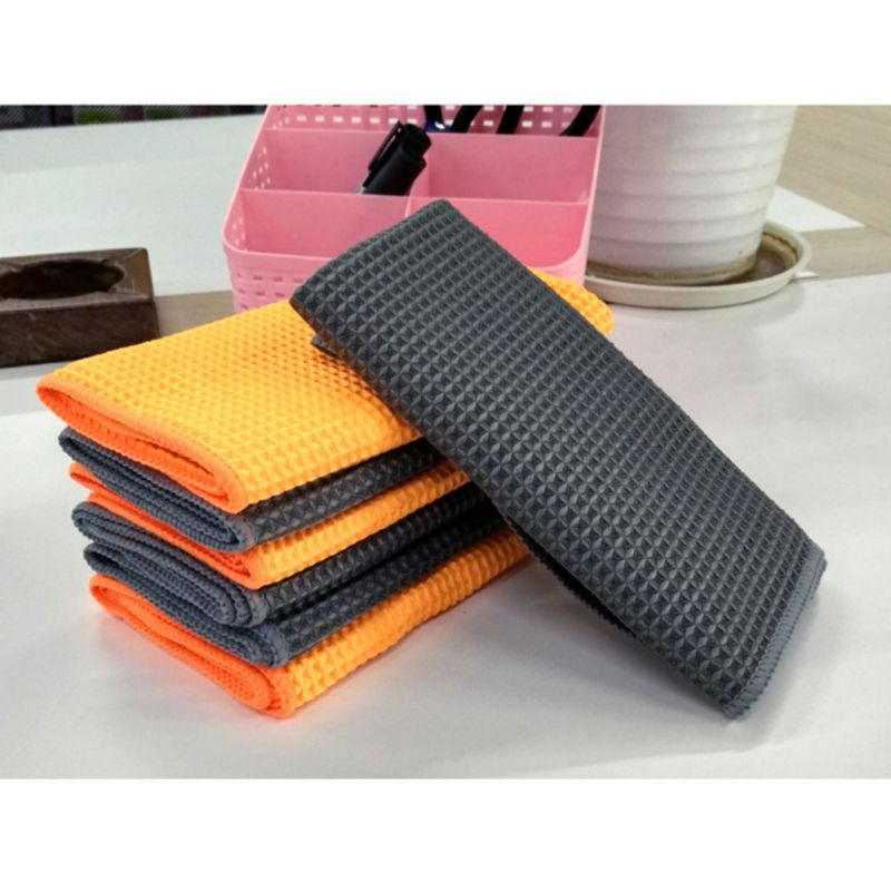 Car Wash Towel Glass Cleaning Water Drying Microfiber Window Clean Wipe Auto Detailing Cleaning For Kitchen Bath 40*40cm