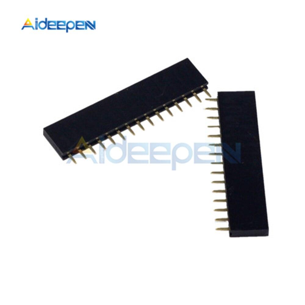 20 шт 15 Pin Однорядный прямой женский штыревой разъем 2,54 мм шаг полосы разъем 1X15 15 15 Pin для Arduino PCB