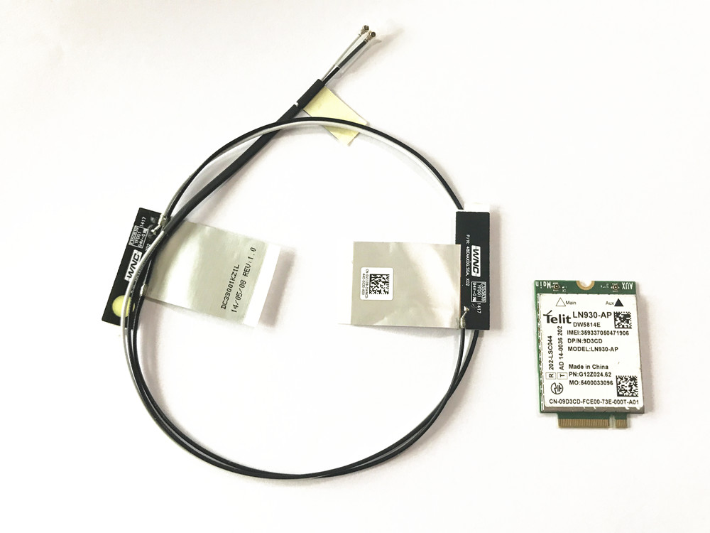With Antennas+LN930-AP DW5814e NGFF 4G LTE 150M Module WWAN Card For Dell Latitude 5580 7480 5480 5285 2-in-1