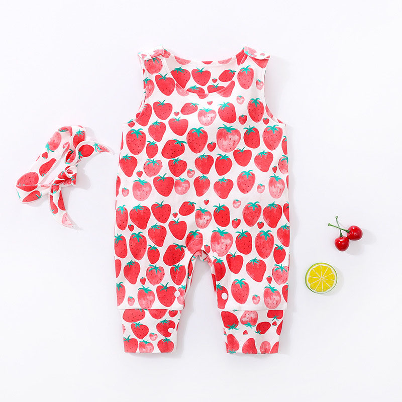 YiErYing Summer 100% Cotton Infantil Baby Girl Romper Newborn Baby Clothes Suit Bebe Roupas Playsuit Cute Baby Jumpsuits