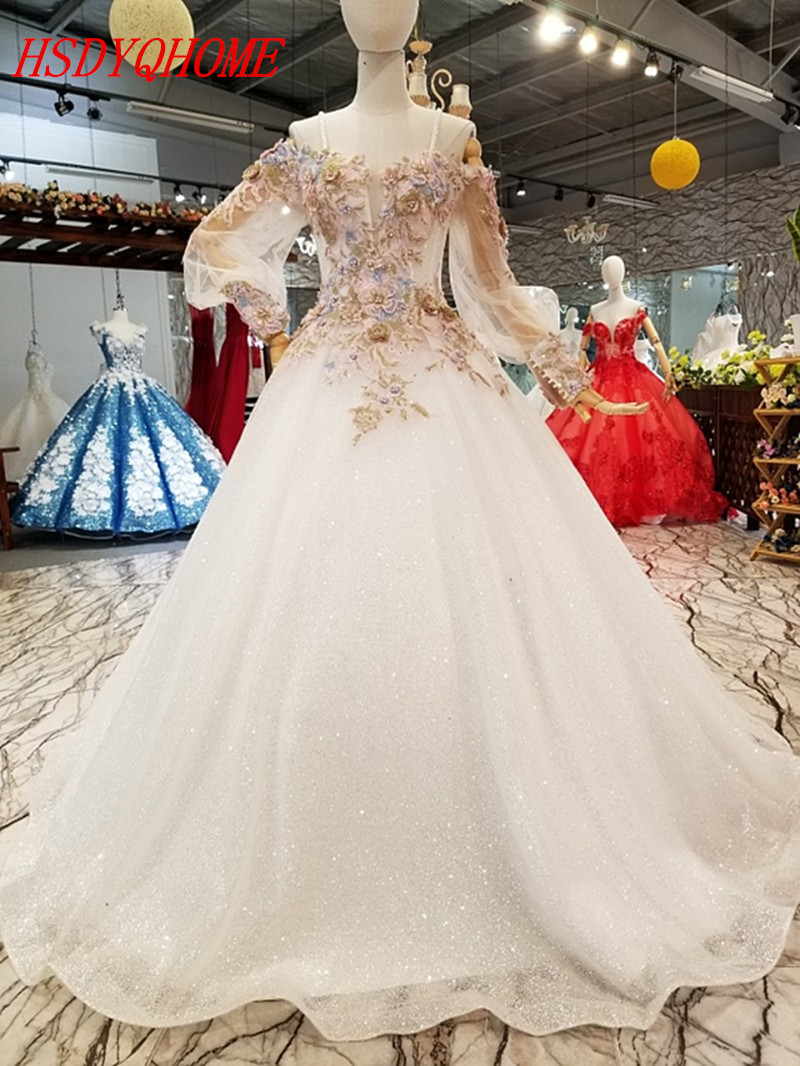 HSDYQHOME Luxury A-Line   Evening     dresses   2018 Sequines Organza Prom party   Dresses   Amazing Vestidos   Evening   party gown