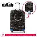 Dispalang fórmula matemática design criativo mala trolley de viagem capa protetora para 18-30 polegada de chuva poeira protector covers