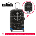 Dispalang mathematics formula creative design travel protective cover for 18-30 inch trolley suitcase rain dust protector covers