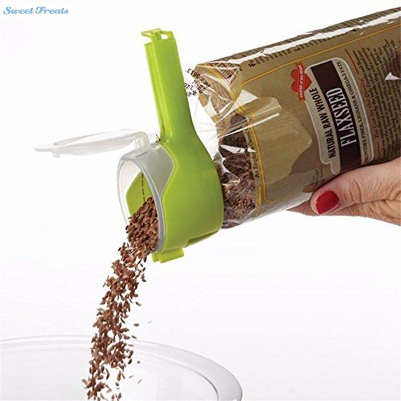 Utility Gesunde Essen Verschlußklammer mit Ausstoßdüse Plastiktüte Feuchtigkeit Abdichtung Clamp Bunte Clamp Sealer Bequeme Nahrung
