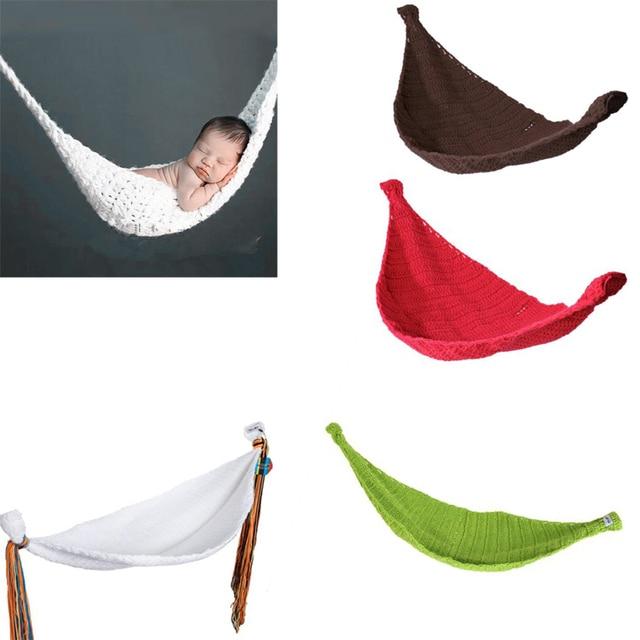 Nuevos accesorios de la fotografía de la hamaca del bebé del ganchillo de punto traje del bebé recién nacido accesorios del niño berco do bebe cradle dropshipping