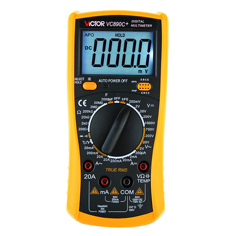 VICTOR VC890C+ LCD Display Digital Multimeter 20000uF Capacitor support мультиметр victory 890c vc890c