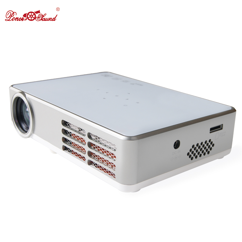 Poner Saund Full Hd New Mini Projector Proyector Led Lcd: Poner Saund DLP300W Android Smart Mini Projector LCD 3D